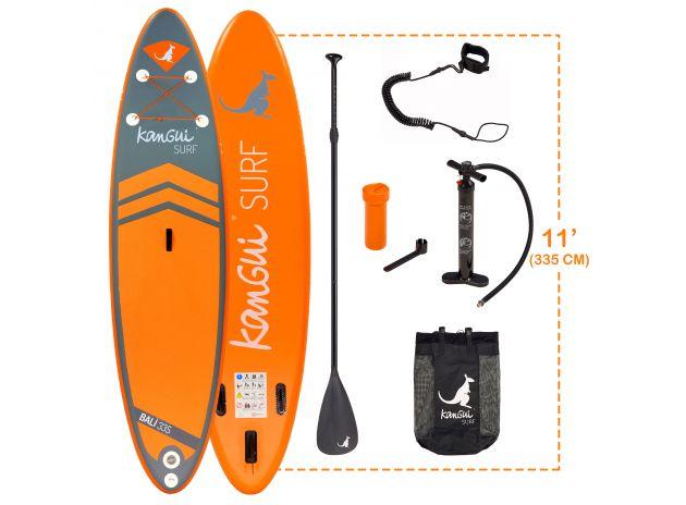 Pack paddle bali 11 pouces et 335cm avec pagaie+kit+pompe+sac+leash