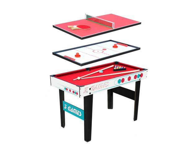 table de jeux 3 en 1