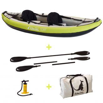 Kayak gonflable Maui  1 a 2 places gonfleur avec pagaies et sac de transport