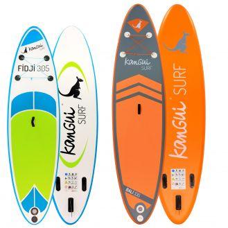 Stand up paddle gonflable de Kangui surf 300 et 335cm
