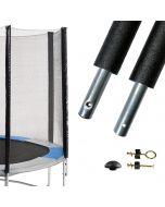 poteau de filet 25mm pour trampolines de jardin multimarques