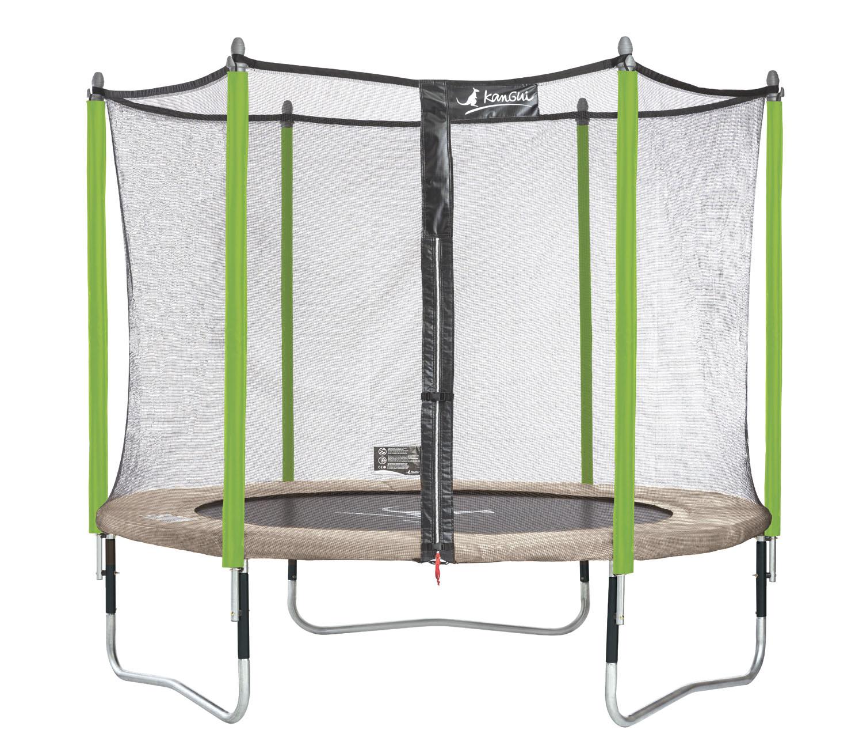 kangui trampoline de jardin diam tre 305 cm avec filet jumpi zen 300 ebay. Black Bedroom Furniture Sets. Home Design Ideas