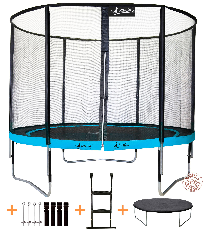 kangui trampoline punchi atoll 305 360 430 cm filet chelle b ch ebay. Black Bedroom Furniture Sets. Home Design Ideas