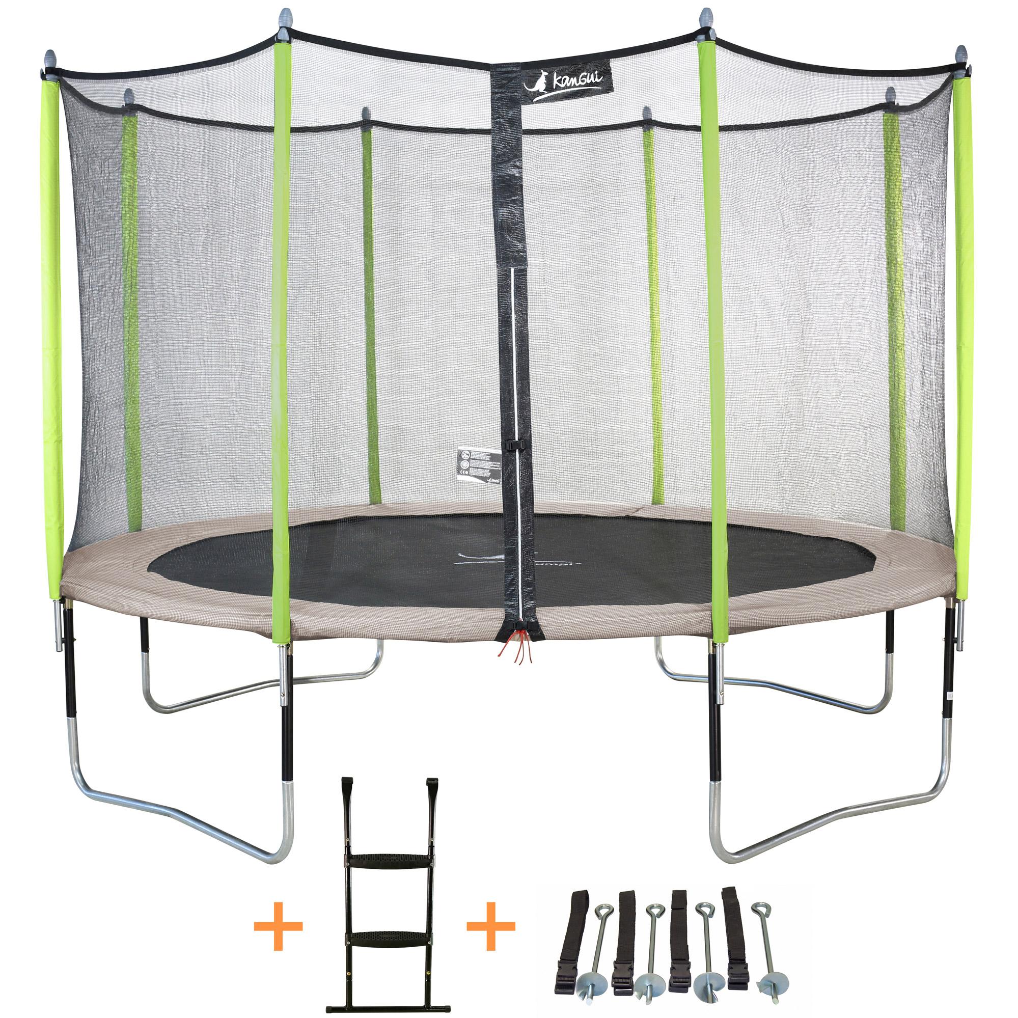 kangui trampoline jumpi zen 305 360 430 cm filet chelle kit d 39 a ebay. Black Bedroom Furniture Sets. Home Design Ideas