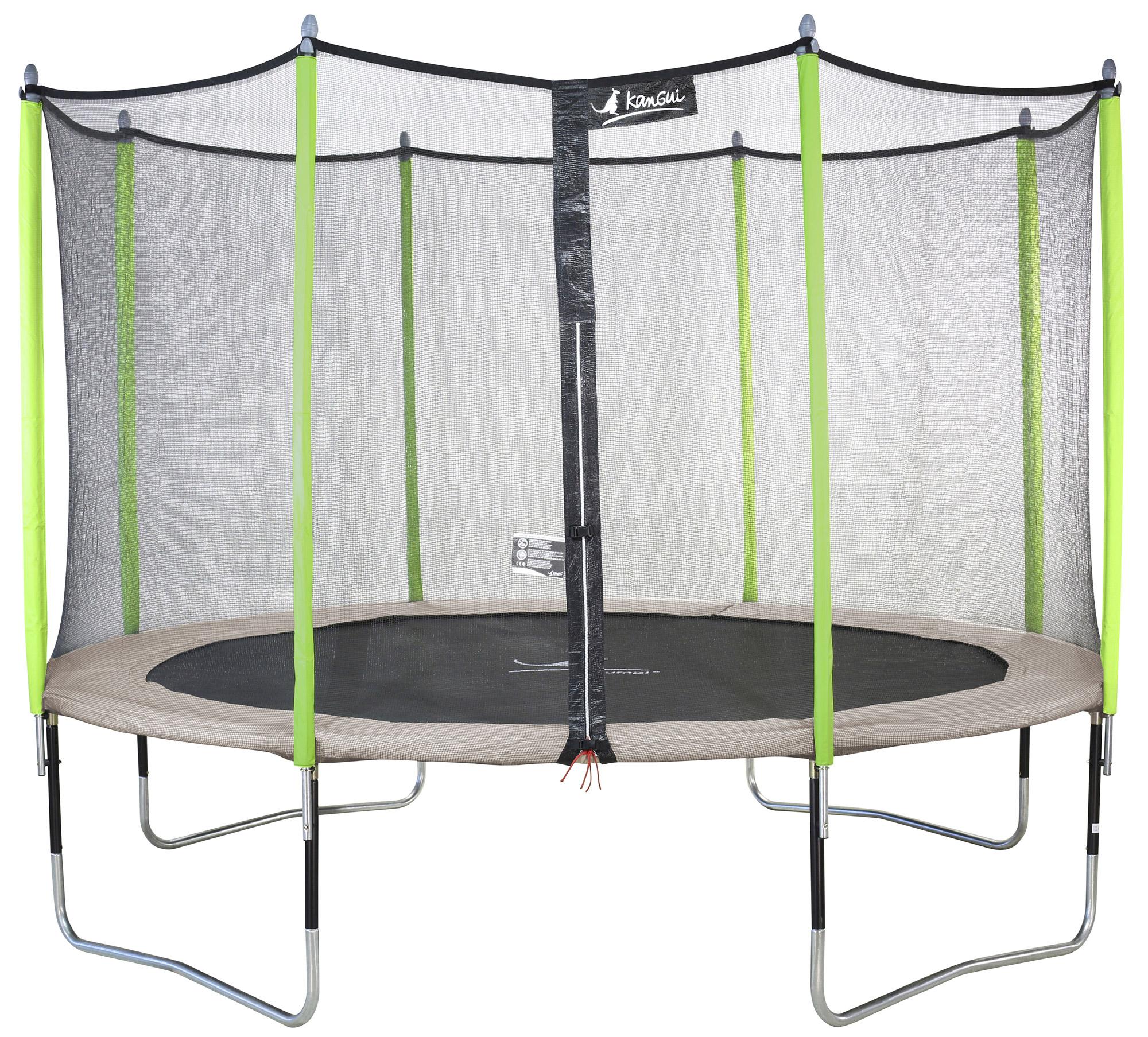 kangui trampoline de jardin 305 360 430 cm filet de s curit jumpi zen ebay. Black Bedroom Furniture Sets. Home Design Ideas