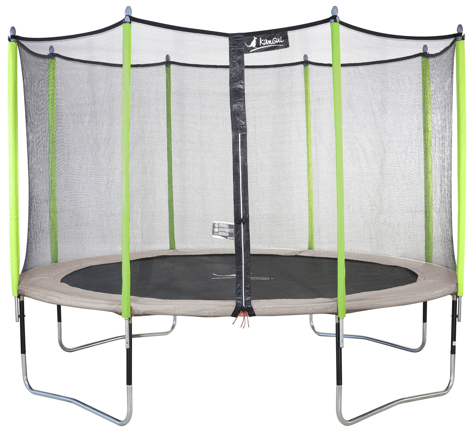 kangui trampoline de jardin 305 360 430 cm filet de s curit jumpi zen ebay. Black Bedroom Furniture Sets. Home Design Ideas