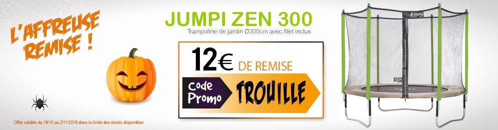 12€ de remise sur le trampoline Jumpi 300