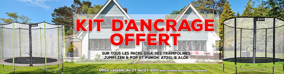 Kit d'ancrage offert sur les trampolines jumpi et punchi