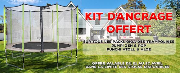 Kit d'ancrage offert
