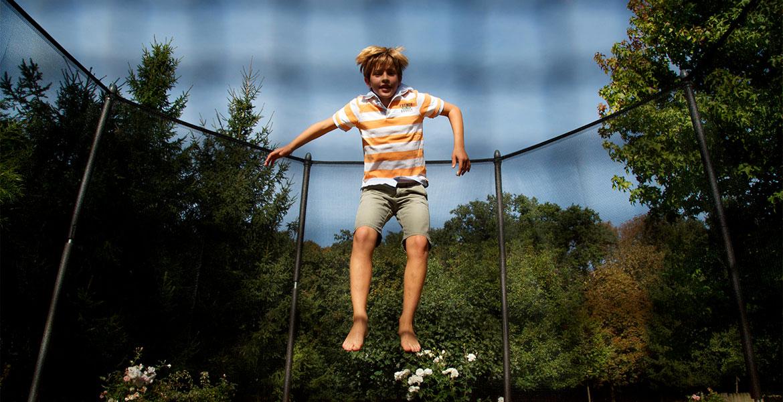 Le trampoline pour faire faire de l'exercice à ses enfants