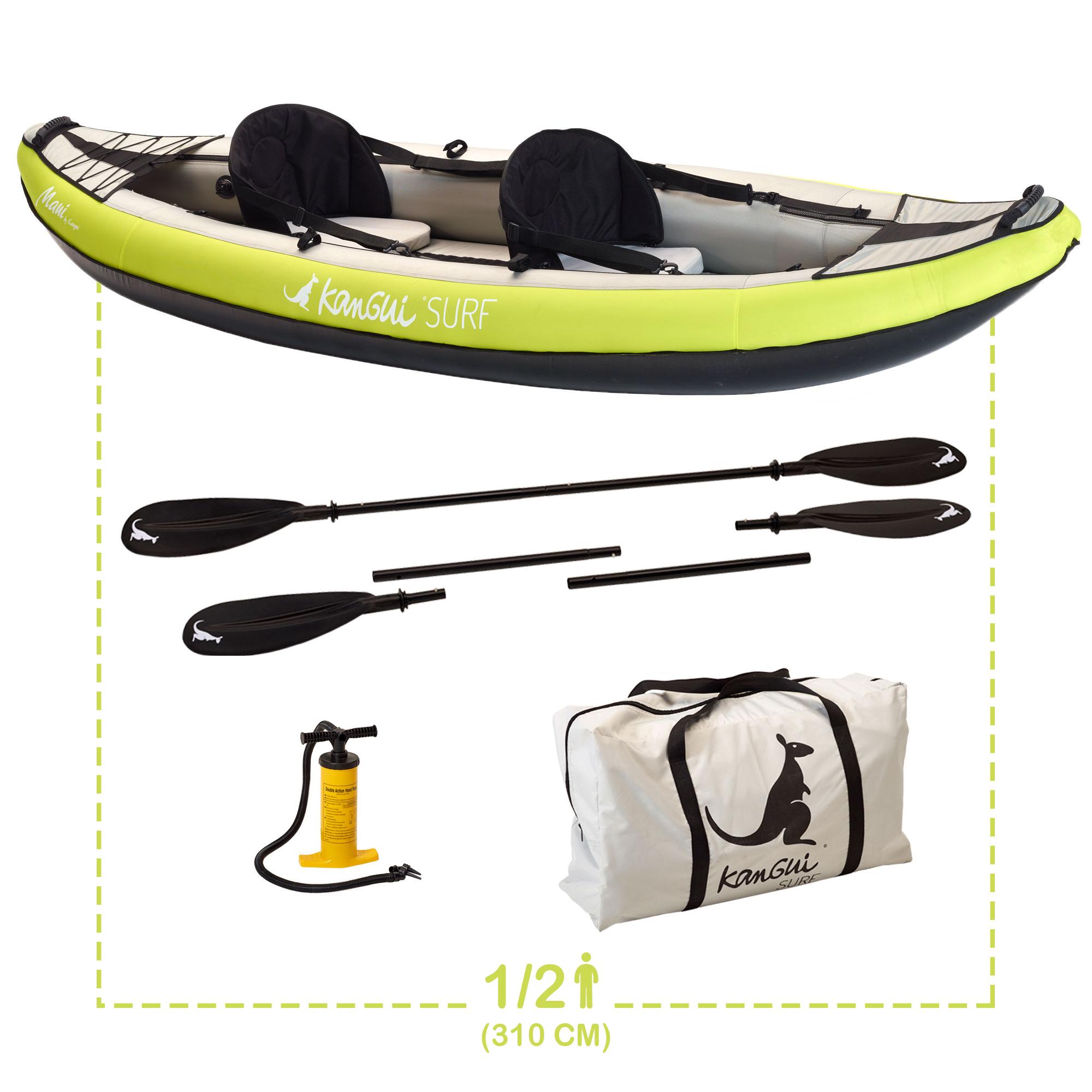 pack complet kayak gonflable maui kangui
