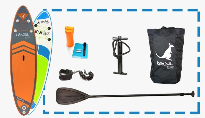 pack clé en main paddle gonflable kangui
