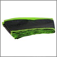Enveloppe Coussin ALOE Vert Anis Noir